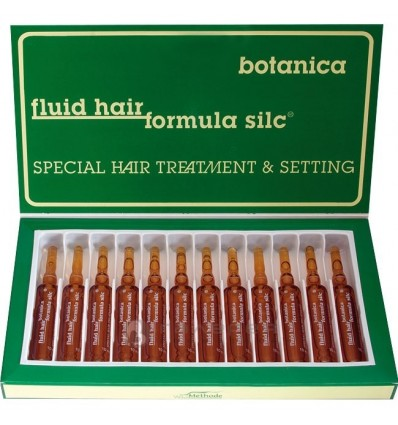 WT METHODE Itin stipraus poveikio ampulės trapiems, nualintiems plaukams FLUID HAIR FORMULA SILK BOTANICA Nr.5, 12x10ml