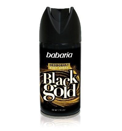 BABARIA Aerozolinis dezodorantas BLACK GOLD, 150 ml
