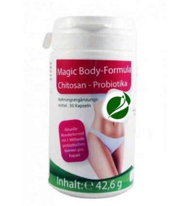 MEDICURA Maisto papildas CHITOSAN, PROBIOTIKAI, MAGIC PLUS, 50 kaps.