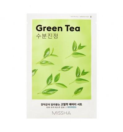MISSHA Airy Fit veido kaukė su žalia arbata, 19 g
