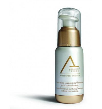 ABANO TERME odos riebumą reguliuojantis bio - serumas su hiperterminiu vandeniu purifying serum sebum normalizing, 50 ml