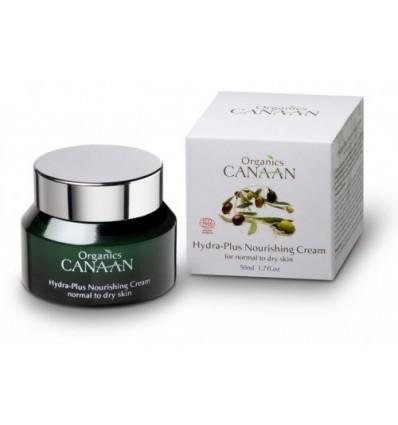 CANAAN ORGANICS Ekologiškas HYDRA-PLUS maitinamasis kremas, 50 ml