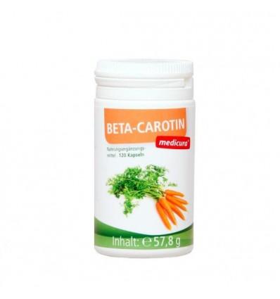 MEDICURA Kapsulės β-Carotin, 120 kaps.