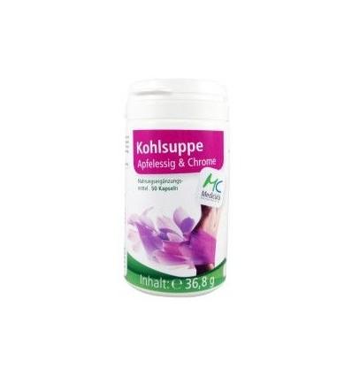 """MEDICURA Kopūstų sriuba, obuolių actas ir chromas """"Kohlsuppe+Apfelessig+Chrom"""", 50 kaps."""