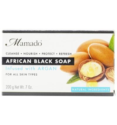 MAMADO Juodasis Afrikos muilas su arganu, 200 g