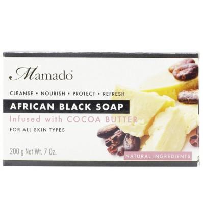 MAMADO Juodasis Afrikos muilas su kakava, 200 g