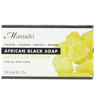 MAMADO Juodasis Afrikos muilas su siera, 200 g