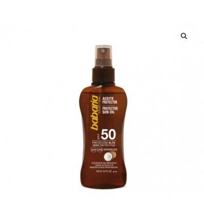 BABARIA Sausas aliejus nuo saulės SPF50, 100 ml