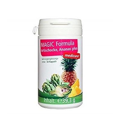 MEDICURA Maisto papildas MAGIC FORMULA su artišokais ir ananasu, 50 kaps.