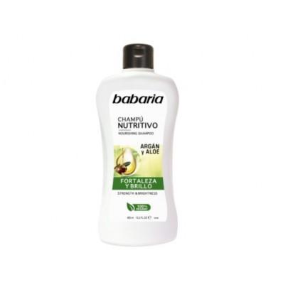BABARIA Šampūnas maitinamasis su aloe vera ir argano aliejumi NUTRITIVO, 400 ml