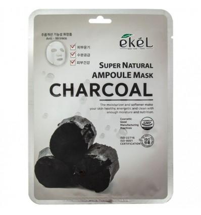 Ekel lakštinė kaukė AMPOULE su aktyvinta medžio anglimi