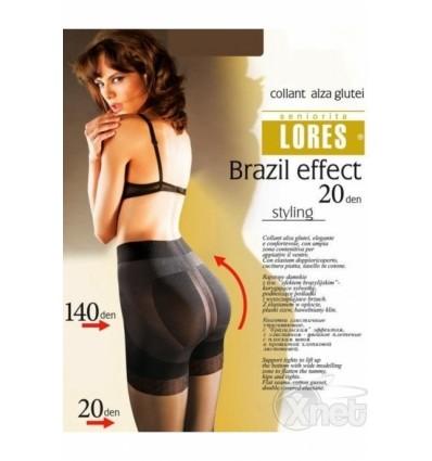 Pėdkelnės LORES Brazil effect, 20 denų, natural spalvos