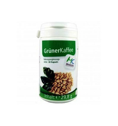 MEDICURA Maisto papildas GREEN COFFEE, 60 kaps.