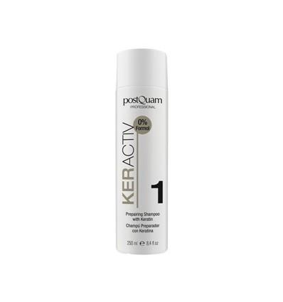 POSTQUAM Stipraus poveikio atstatomasis šampūnas su keratinu, 250 ml